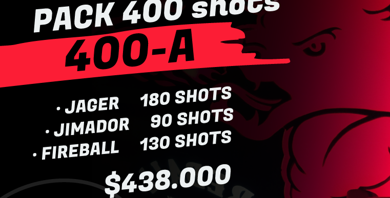 Pack 400 shots A