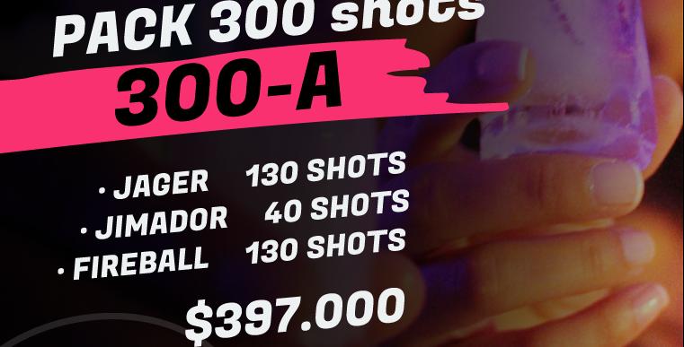 Pack 300 shots A
