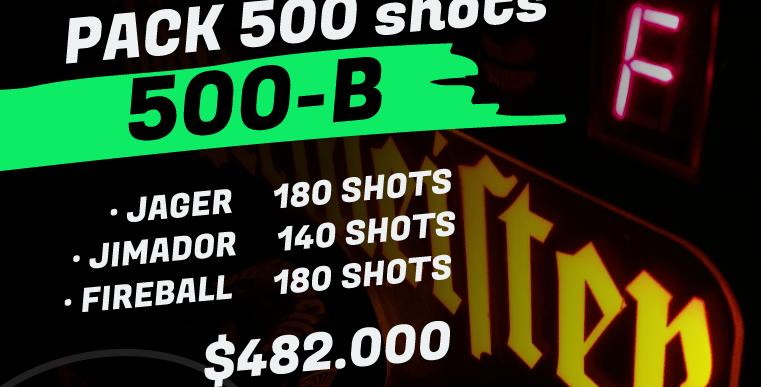 pack 500 shots B