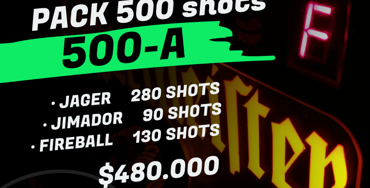 Pack 500 shots A