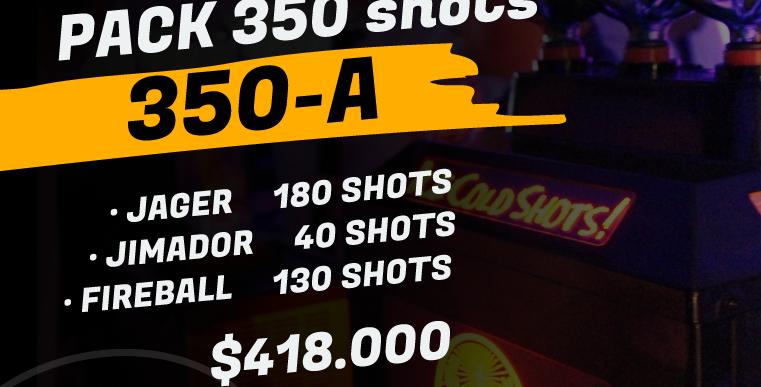Pack 350 shots A