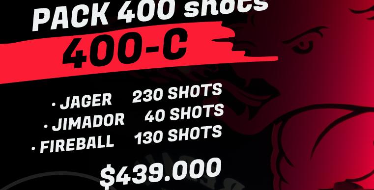 Pack 400 shots C