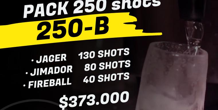 Pack 250 shots B