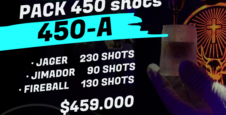 Pack 450 shots A