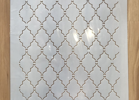 MOROCCAN GRID - EXTRA LARGE STENCIL