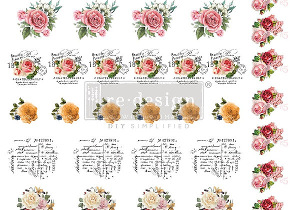 REDESIGN FURNITURE KNOB TRANSFERS- VINTAGE ROSE