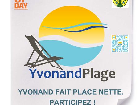 Nettoyage de la plage d'Yvonand le 15 septembre !