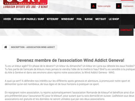 WAG la nouvelle association de kitesurf à Genève