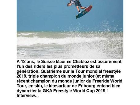 Interview de #Maxime Chabloz par Kiteboarder magazine