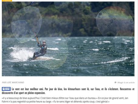 Article sur le kitesurf dans ArcInfo