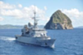 Frégate Le Ventôse , La fragata de la Armada francesa La Ventose, un helicóptero y dos lanchas rápidas, realizaron un simulacro de captura de una embarcación comandada por narcotraficantes en las aguas del mar Caribe