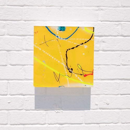 """12"""" X 12"""" Reverse Painting on Glass"""