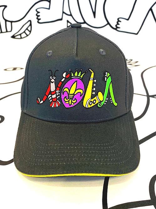 NOLA embroidered designer hat