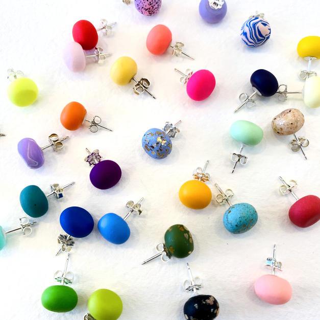 Emily Green Stud Earrings
