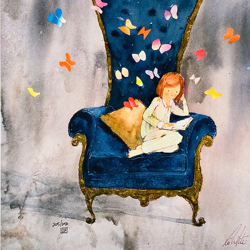 """Butterflies""  Lee White Signed Print"