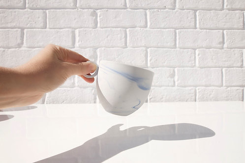 Anna Jones Tea Cups Grey Marble Blue