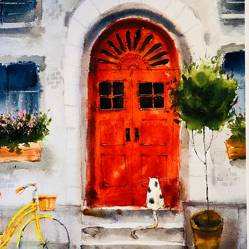 """""""Lemme In""""  Lee White Signed Print"""