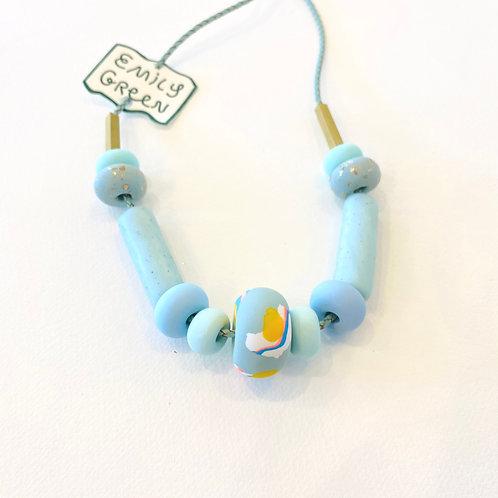 Emily Green Hydrangea Necklace