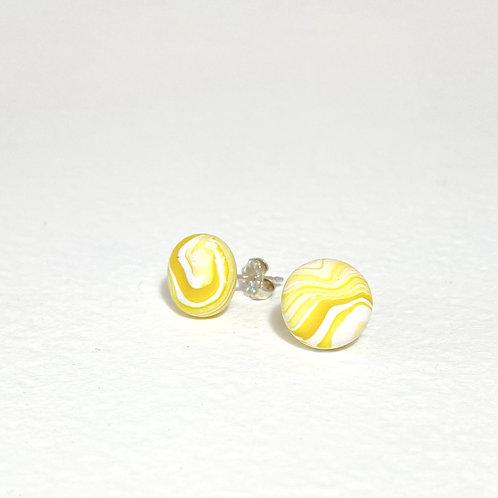 Emily Green stud Earrings Lemon Marble