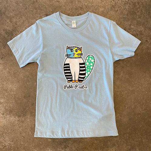 Pablo P-Cat-O T Shirt Light Blue