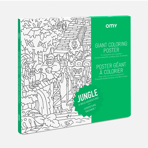 Jungle Giant Coloring Poster Jungle
