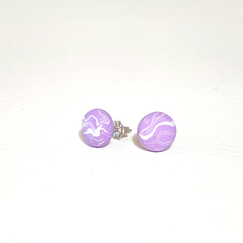 Emily Green stud Earrings Orchid Marble