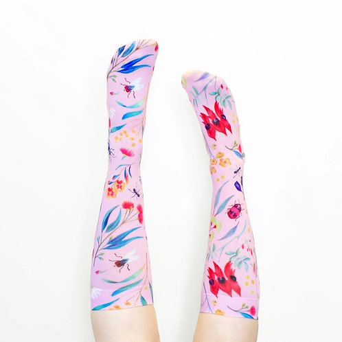 Julie White Wild Flower socks