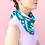 "Thumbnail: Julie White Abstract OZ 25"" x 25"" silk/cotton scarf"