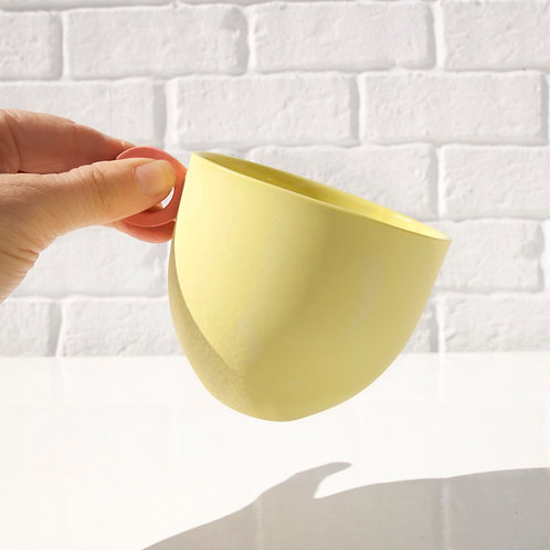 Anna Jones Tea Cups Yellow with Coral Handle