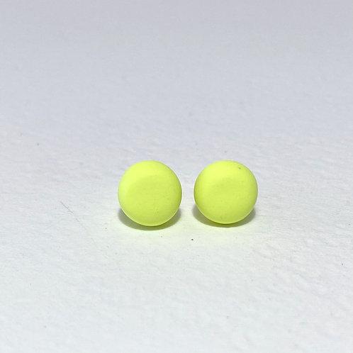 Emily Green stud Earrings Acid Yellow