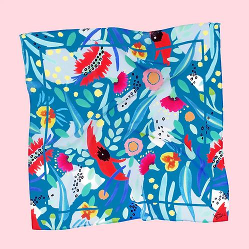"Julie White Abstract OZ 25"" x 25"" silk/cotton scarf"