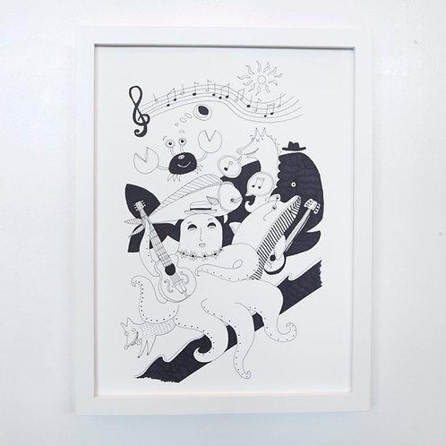 "12"" X 16"" Original Drawing"
