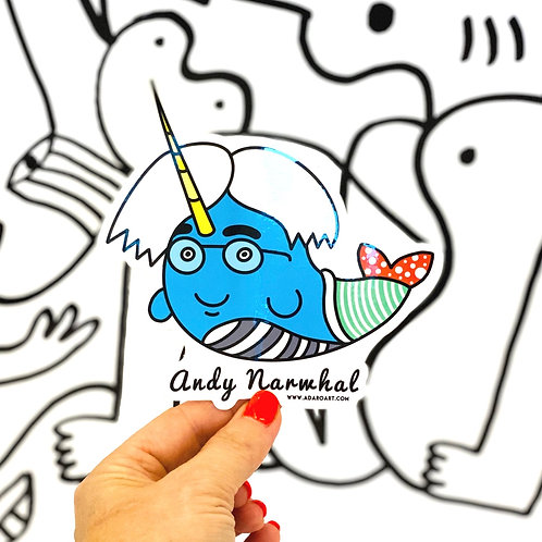 Andy Narwhal Sticker