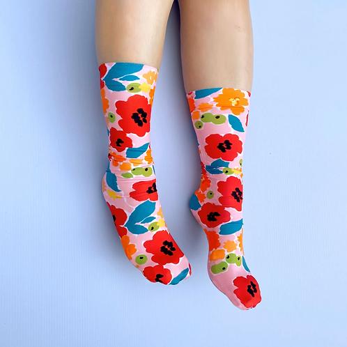 Julie White Tropical Garden  socks