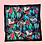 "Thumbnail: Julie White Nocturnal  25"" x 25"" silk/cotton scarf"
