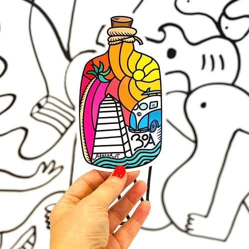 Message in a Bottle 30A Sticker