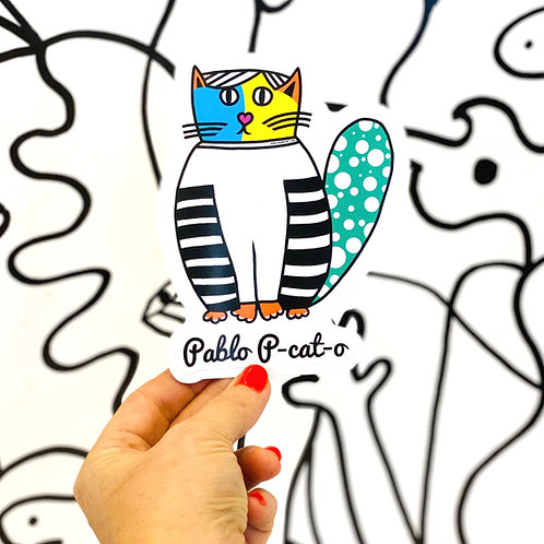 Pablo P-cat-o Sticker