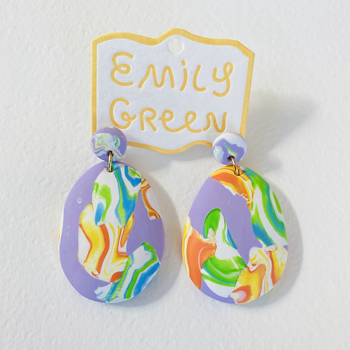 Emily Green Drop Earrings