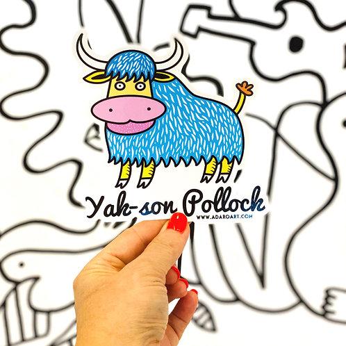 Yak-son Pollock Sticker