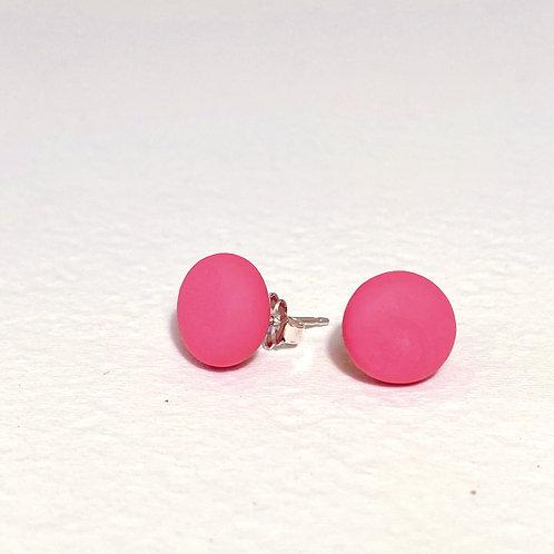 Emily Green stud Earrings Raspberry