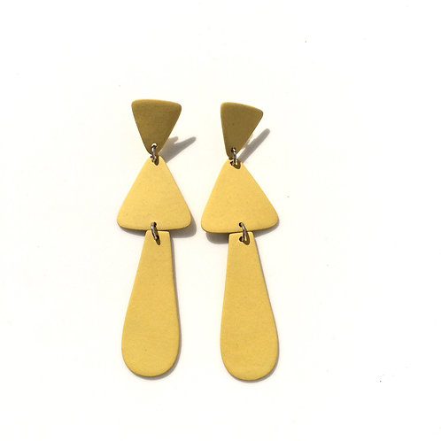 Four Eyes Ceramic Modern Earrings
