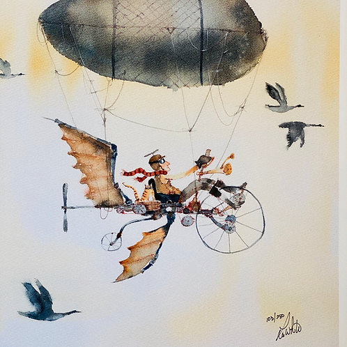 """Flight""  Lee White Signed Print"