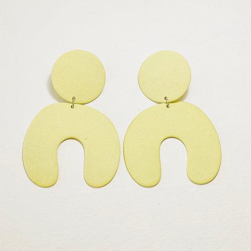 Four eyes ceramic earrings