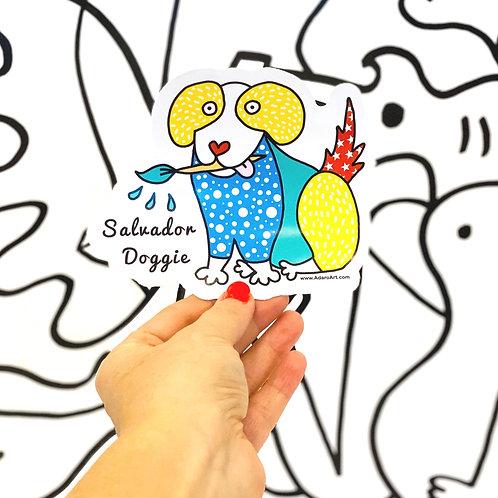 Salvador Doggie Sticker