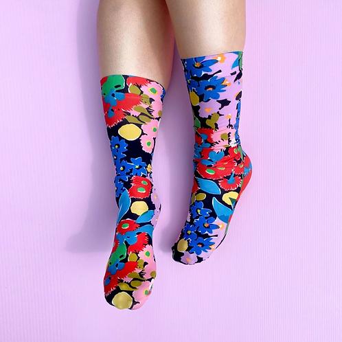 Julie White Bush Bloom socks
