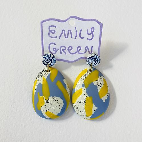 Emily Green Drop Earrings