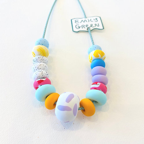 Emily Green Lipstick Collage Necklace