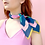 "Thumbnail: Julie White Dessert Rose 25"" x 25"" silk/cotton scarf"