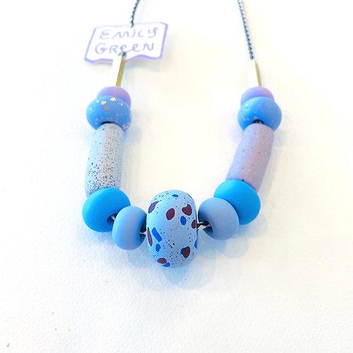 Emily Green Blue Dahlia Necklace