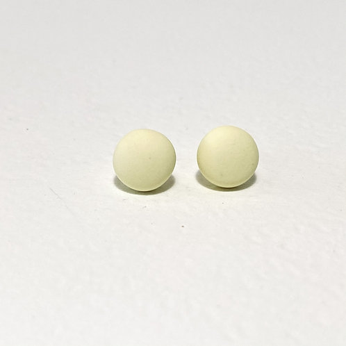 Emily Green stud Earrings pale Yellow